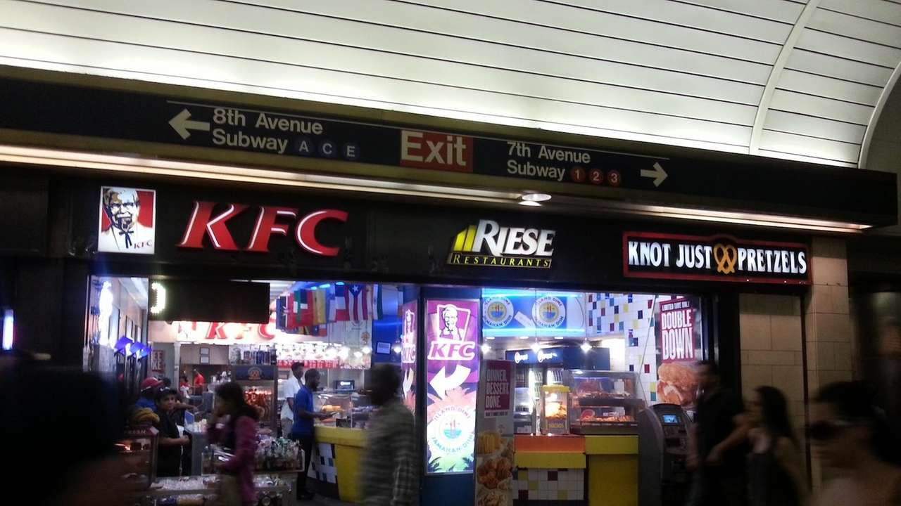 Some of Penn Station's fast food eateries are
