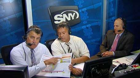 Keith Hernandez, Ron Darling and Gary Cohen of