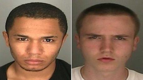 Nicholas Bollar, 18, left, and Gregory Czaplichi, 17,
