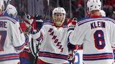Derek Stepan of the Rangers celebrates his first