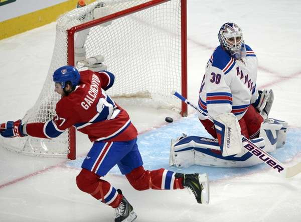 Montreal Canadiens' Alex Galchenyuk celebrates after scoring on