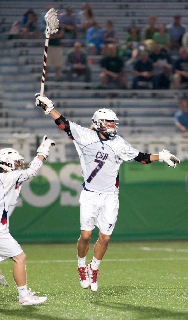 Cold Spring Harbor's Frankie Stubbolo celebrates a goal