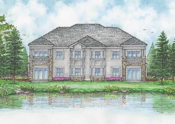 An architectural rendering by Robert M. Swedroe Architects