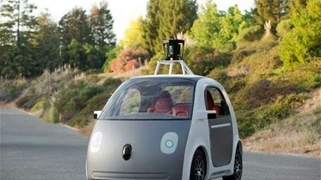 An early version of Google's prototype self-driving car.