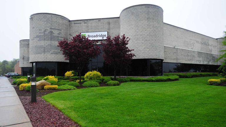 A Broadridge Financial Solutions plant in Edgewood on