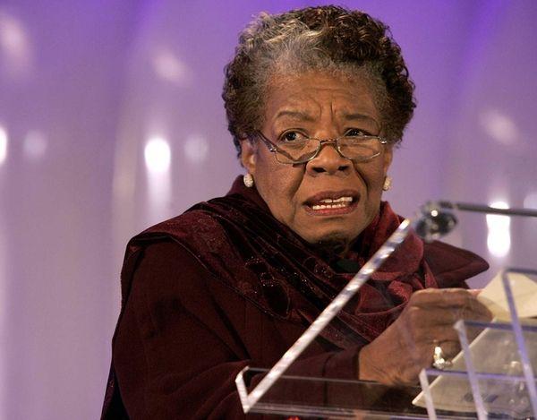 Poet Maya Angelou reads her poem