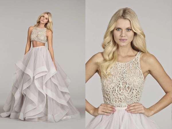 Hayley Paige's alabaster tulle Dori gown with crystal