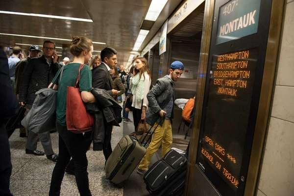 Penn Station's LIRR terminal in Manhattan is packed