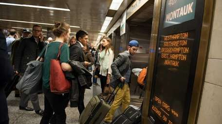 Penn Station's LIRR terminal in Manhattan is packed