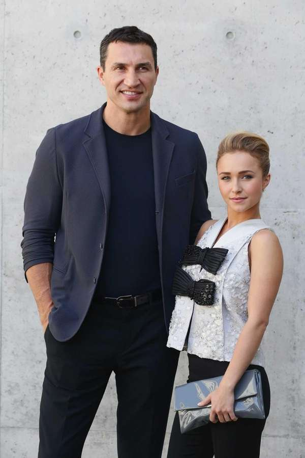 Hayden Panettiere and Wladimir Klitschko attend the Giorgio
