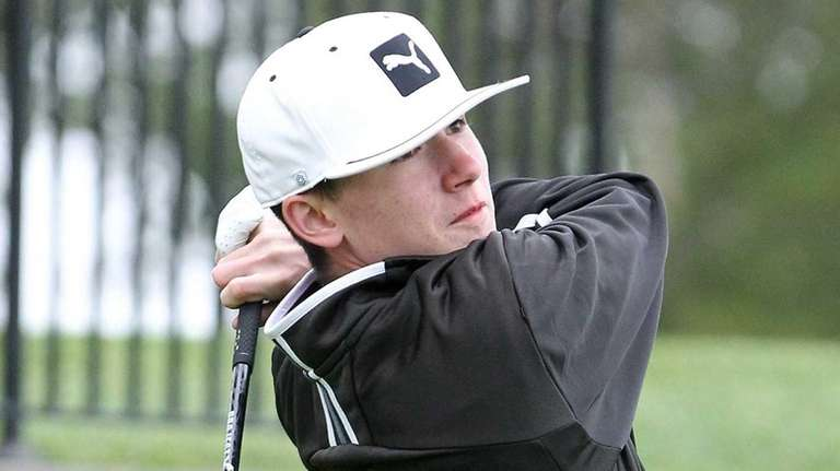 Sayville's Michael Nadeau hits a drive during the