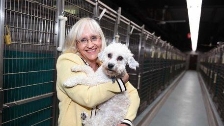 Town of North Hempstead Supervisor Judi Bosworth cuddles