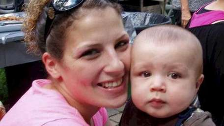 Kristina M. Tfelt, 26, of Riverhead, with her