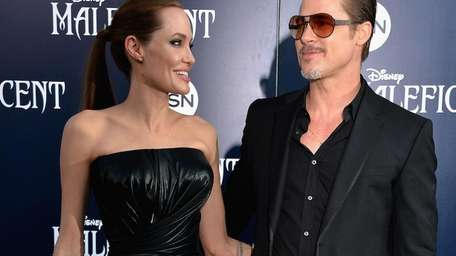 Brad Pitt and Angelina Jolie on the red