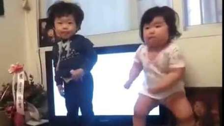 The 'chubby Korean baby dancing' video on YouTube