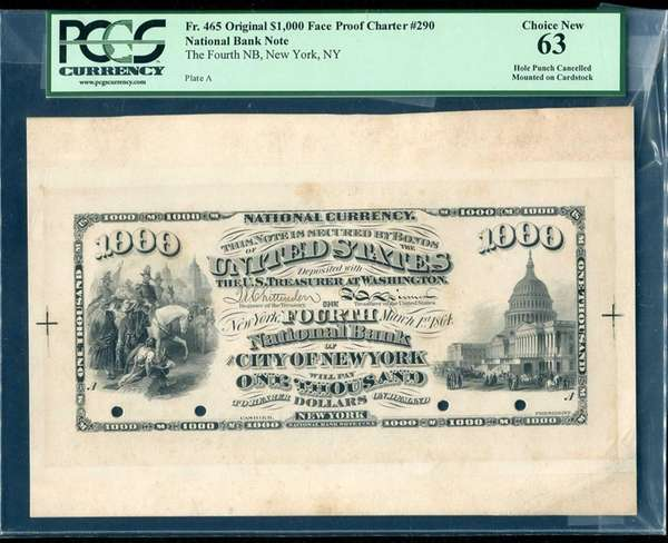The proof of a rare $1,000 national bank