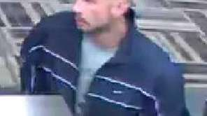 The suspect who robbed the Bethpage Federal Credit