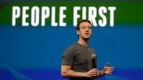 Facebook CEO Mark Zuckerberg delivers the keynote address