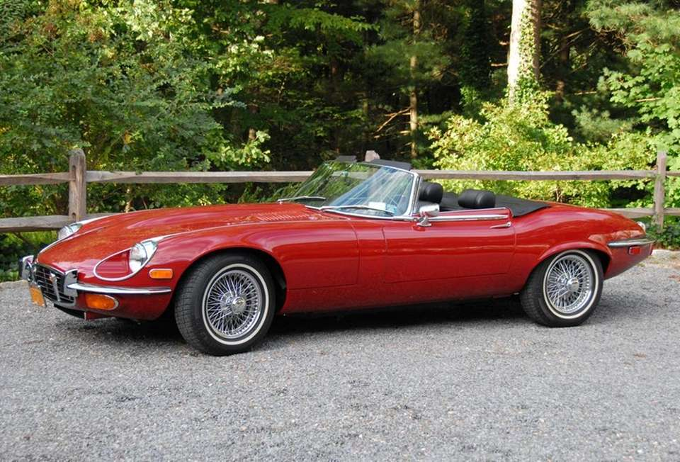 This 1972 Jaguar E-Type roadster underwent a heavy