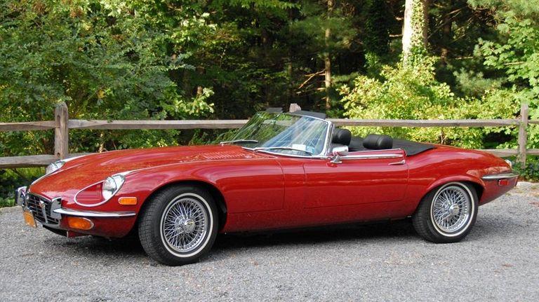 This 1972 Jaguar E-Type roadster underwent a heavy