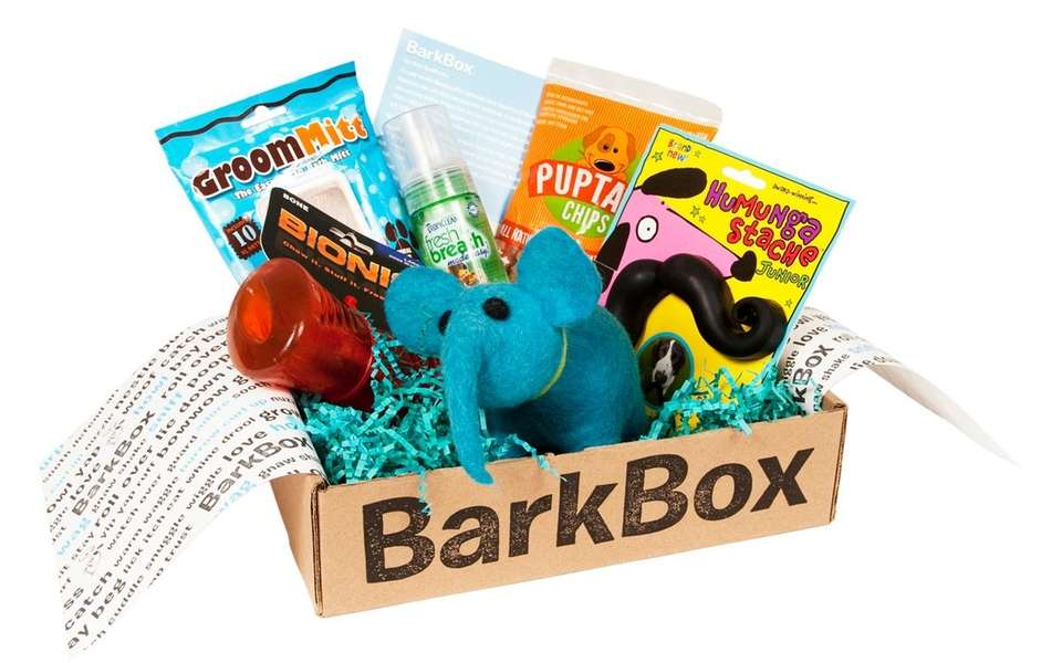 Spoil your dog with a monthly box that