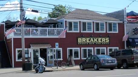 Breakers Sports Bar and Grill is up and