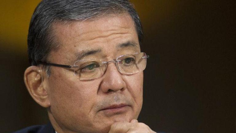 Veterans Affairs Secretary Eric Shinseki says he's ousting