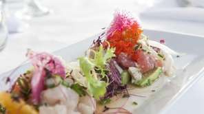"""Ceviche Tasting"" is served at Bay Kitchen Bar,"