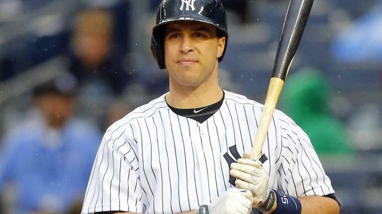 Mark Teixeira of the Yankees bats in the