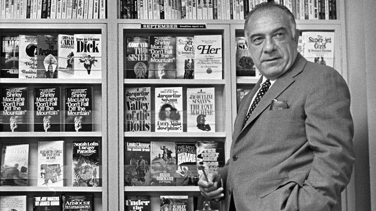 Oscar Dystel, president of Bantam Books, is shown