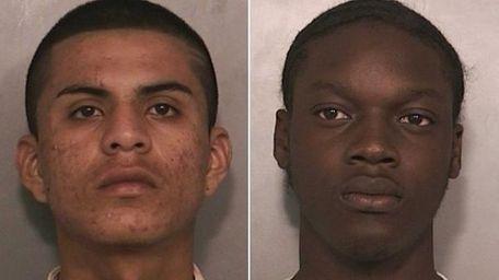 Enrique Rivas, left, 19, of Uniondale, and Kevin
