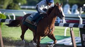Triple Crown hopeful California Chrome getting a running