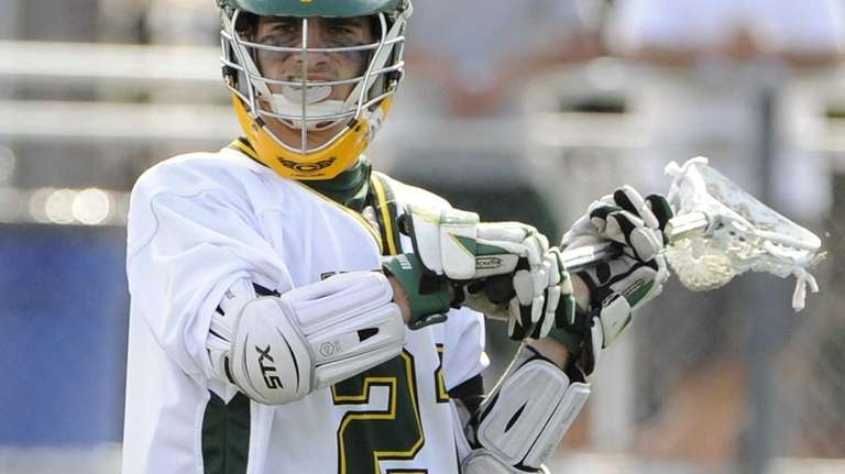 Lynbrook attacker Austin Fabel looks to pass against