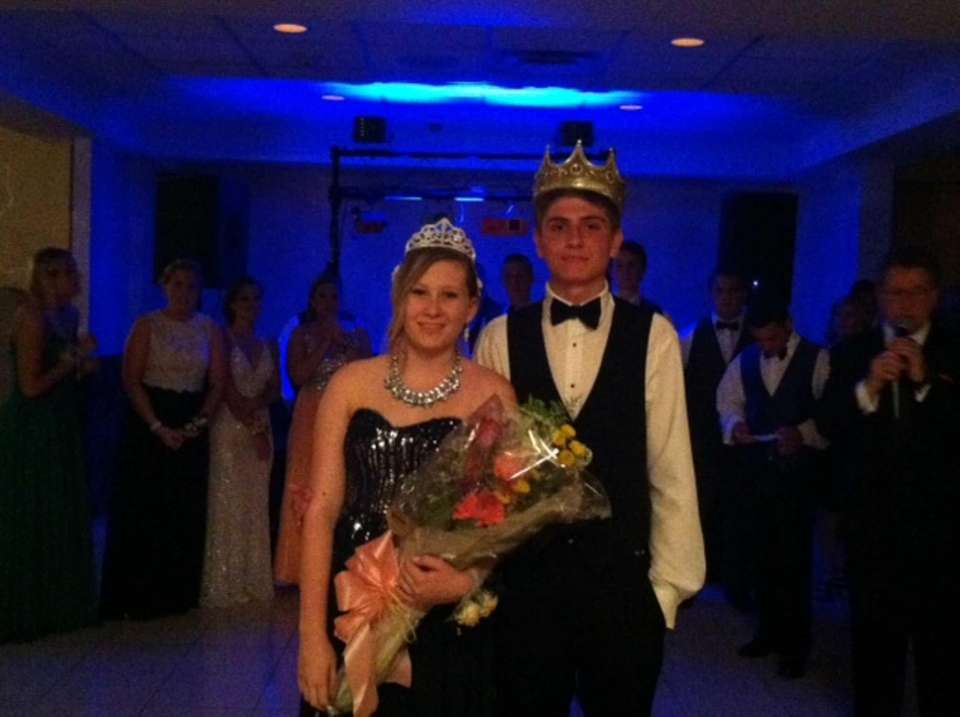 Brooke Wilber, 17, and Justin Szeglin, 17, were