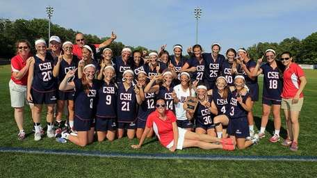 Cold Spring Harbor poses for a photo after