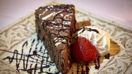 For his sensational Oreo-crust chocolate mousse pie ($14)