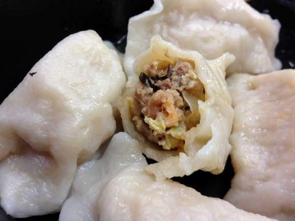 Shrimp-pork-chive dumplings are on the menu at Tao's