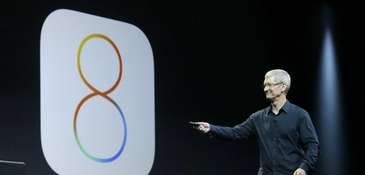 Apple CEO Tim Cook speaks about iOS 8