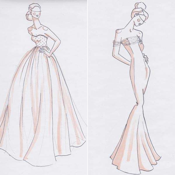A ballgown and a mermaid gown are two