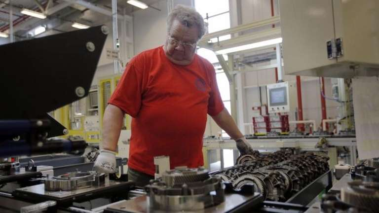 Dave Roop, of Cicero, Ind., works on the