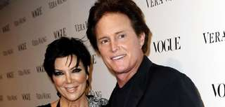 Kris and Bruce Jenner at the Vogue Magazine