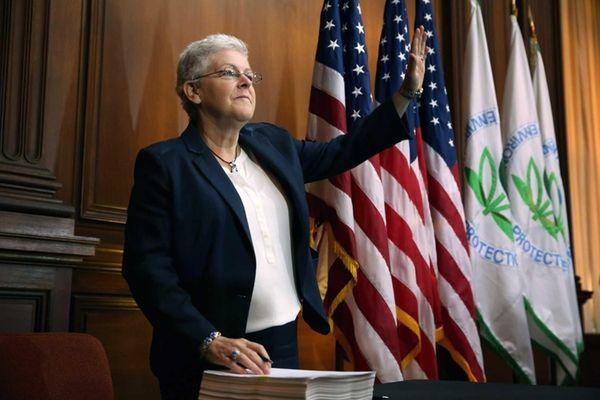 U.S. Environmental Protection Agency Administrator Gina McCarthy waves