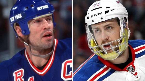 From left, Mark Messier and Derek Stepan are