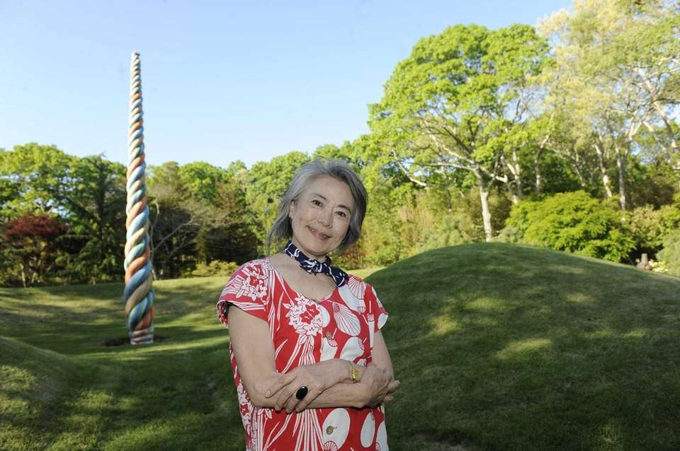 Environmental artist Mariyo Yagi attends the NAWA-AXIS for