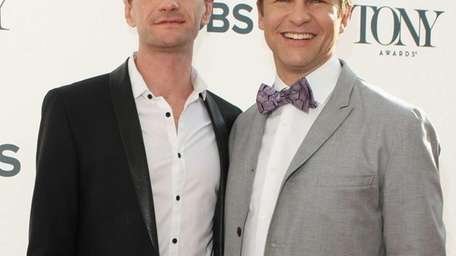 Actors Neil Patrick Harris, left, and David Burtka