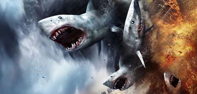 """Sharknado"" is a 2013 made-for-television disaster movie about"