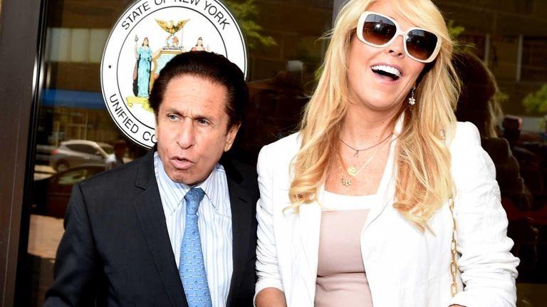 Attorney Mark Heller and Dina Lohan leave Nassau