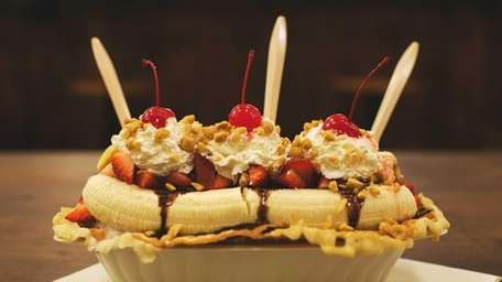A typical sundae from Davey's Ice Cream in