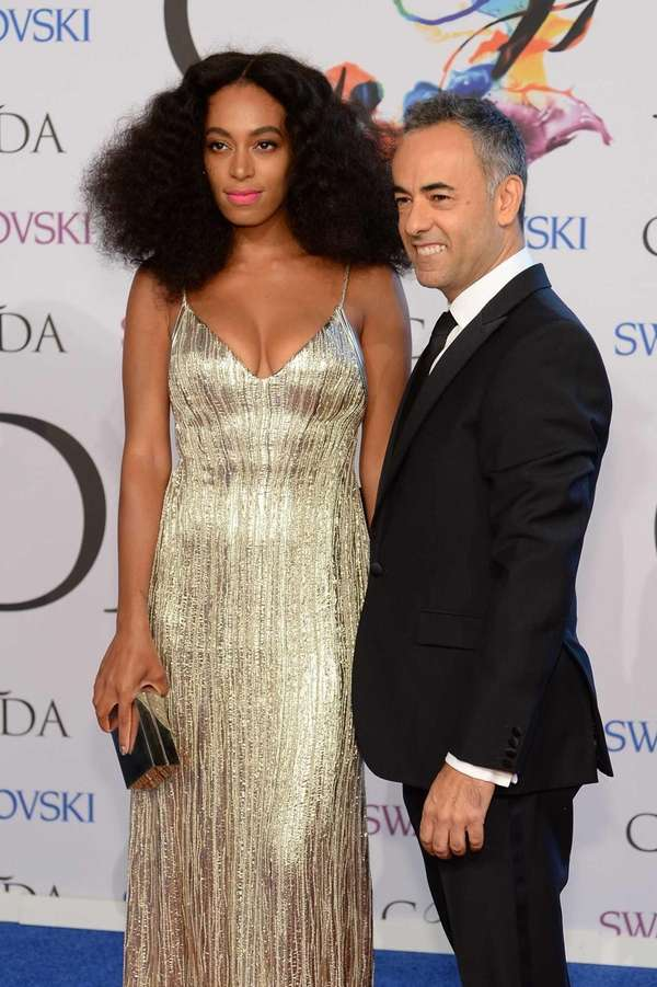 Singer Solange Knowles and designer Francisco Costa attend
