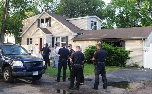 A man trapped in a Central Islip house
